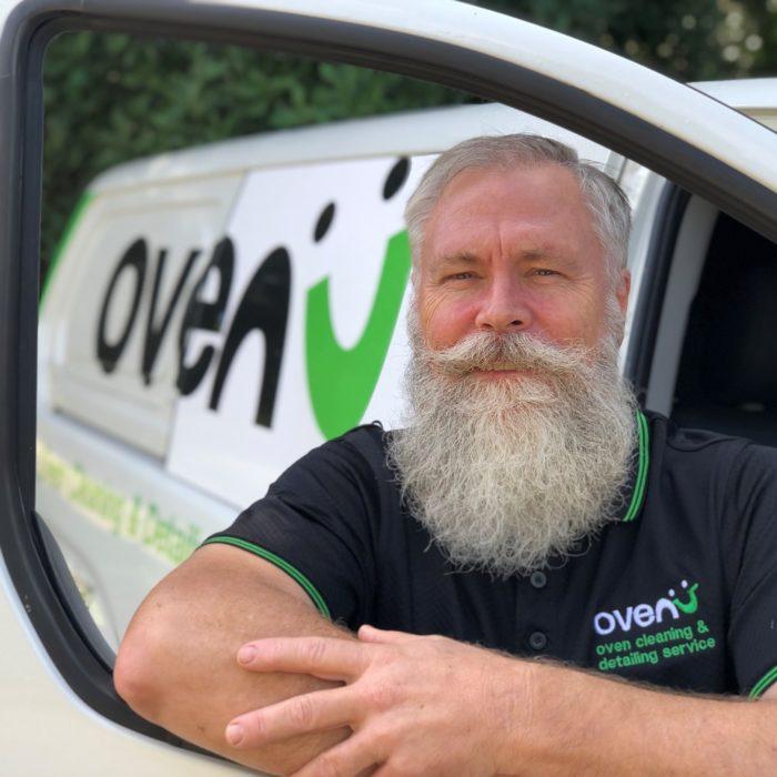 Brisbane professional oven cleaner in ovenu van