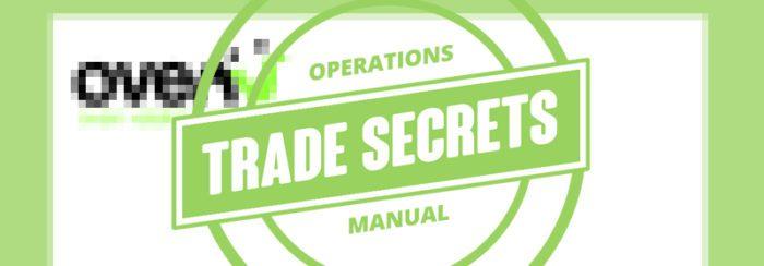 Ovenu trade secrets manual