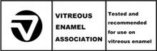 Vitreous Enamel Association accredited badge